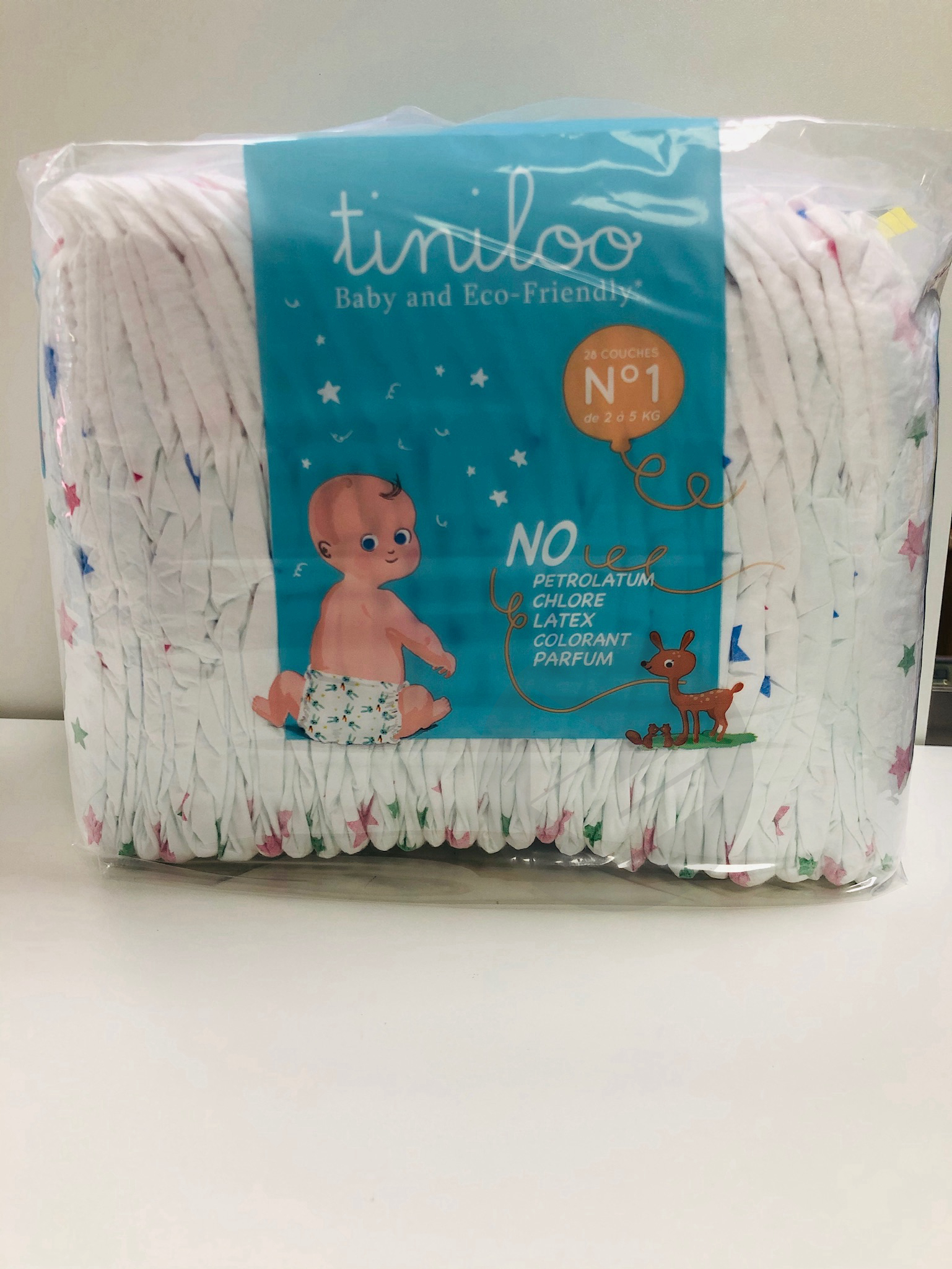 Tiniloo couche taille 1 (2 à 5 kg)