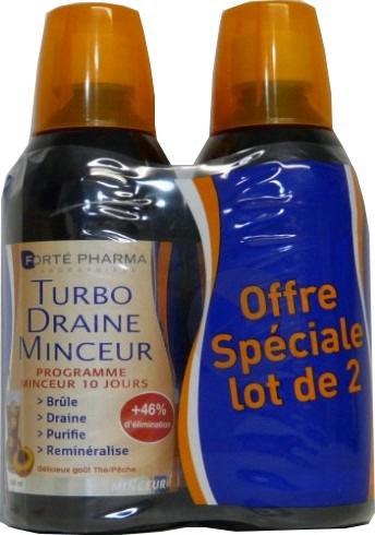 TURBODRAINE S buv thé pêche 2Fl/500ml