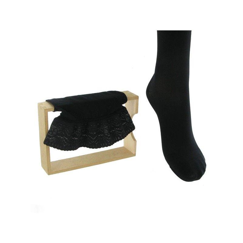 Bas Microvoile Jarfix Classe 2 Noir Longueur Moyenne Taille 2