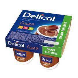 DELICAL CREME DESSERT HP HC SANS SUCRES Nutriment cacao 4Pots/200g