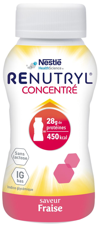 Renutryl Concentre Saveur Fraise 4 X 200 Ml