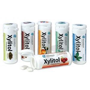 MIRADENT XYLITOL Chew gum sans sucre menthe poivrée T/30