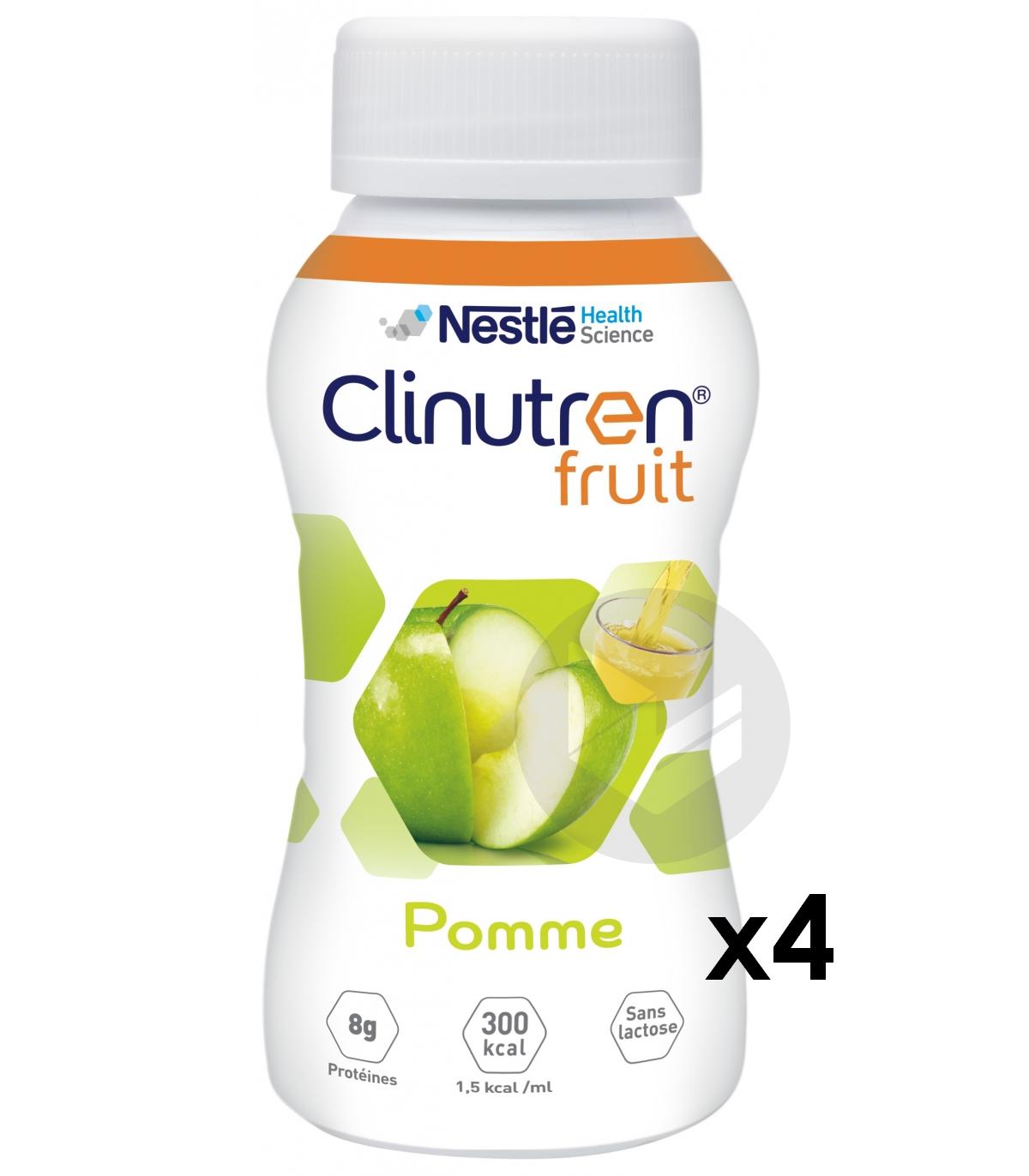 Clinutren Fruit Pomme 200 Mlx 4