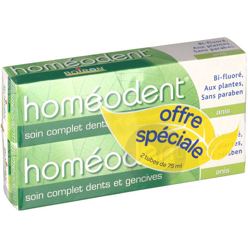 Homeodent Pate Dentifrice Dents Et Gencives Anis 2 T 75 Ml