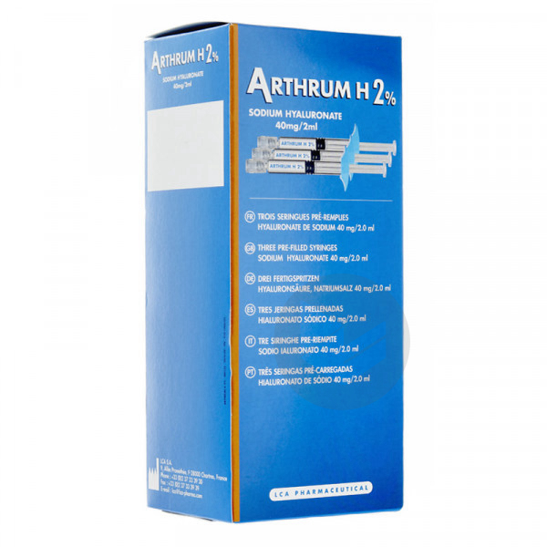 Arthrum H 2 Seringue 3 X 2 Ml