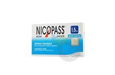NICOPASS 1,5 mg Pastille sans sucre menthe fraîcheur (Plaquette de 12)
