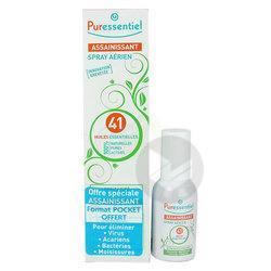 PURESSENTIEL ASSAINISSANT Spray aérien 41 huiles essentielles Fl/200ml+Pocket/20ml