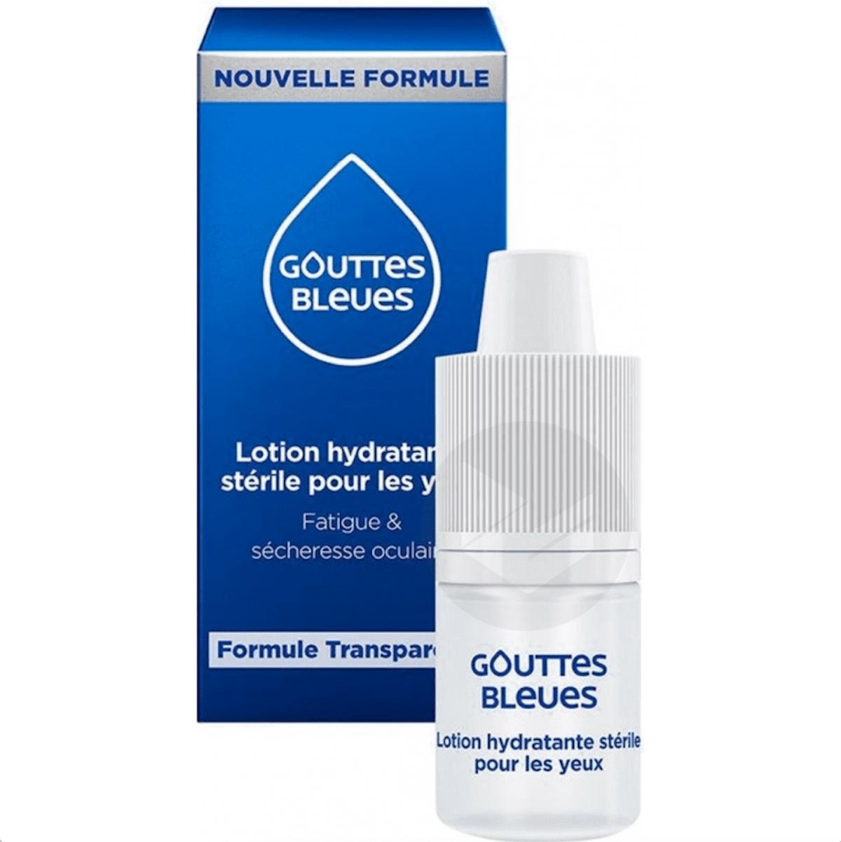 Goutte Bleue Lotion Hydratante Sterile Yeux 10 Ml