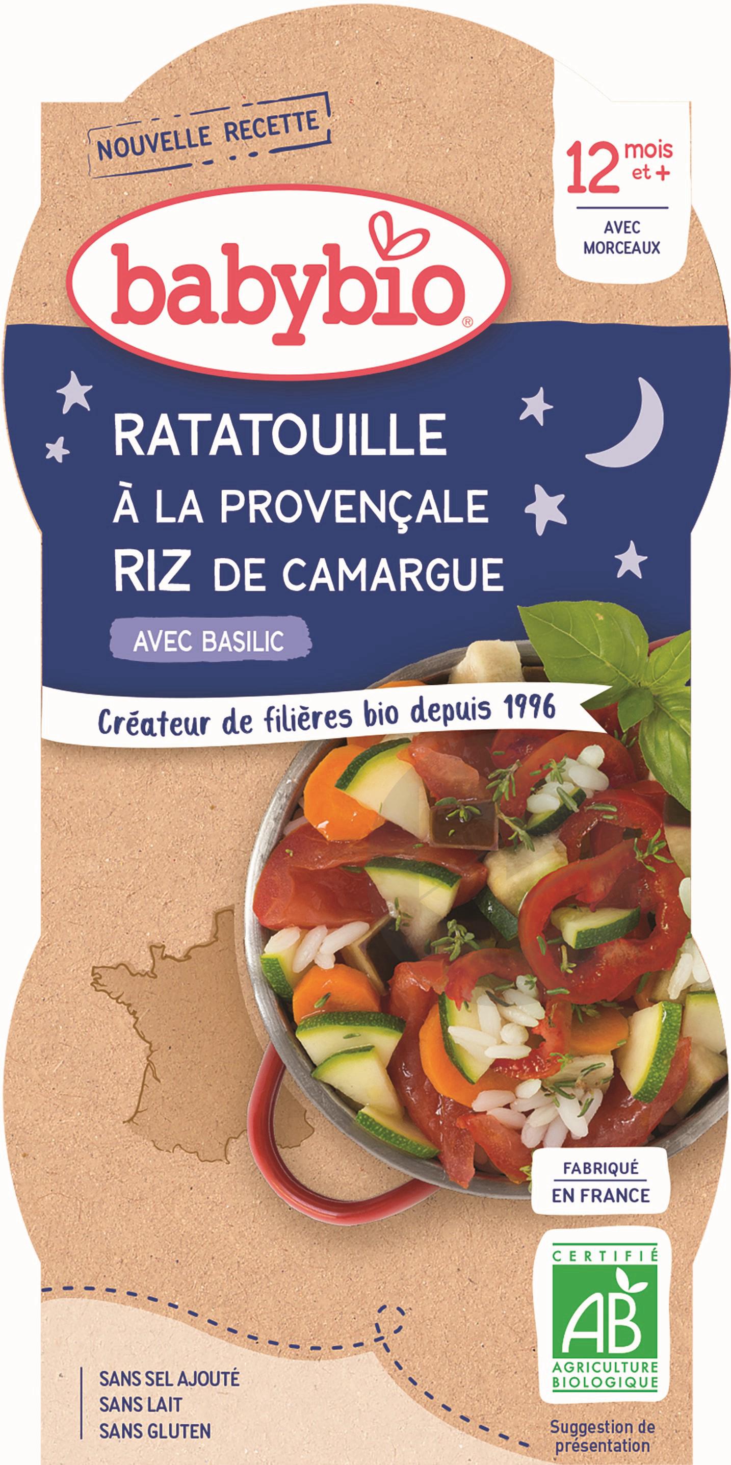 BABYBIO Bol Bonne Nuit Ratatouille Riz