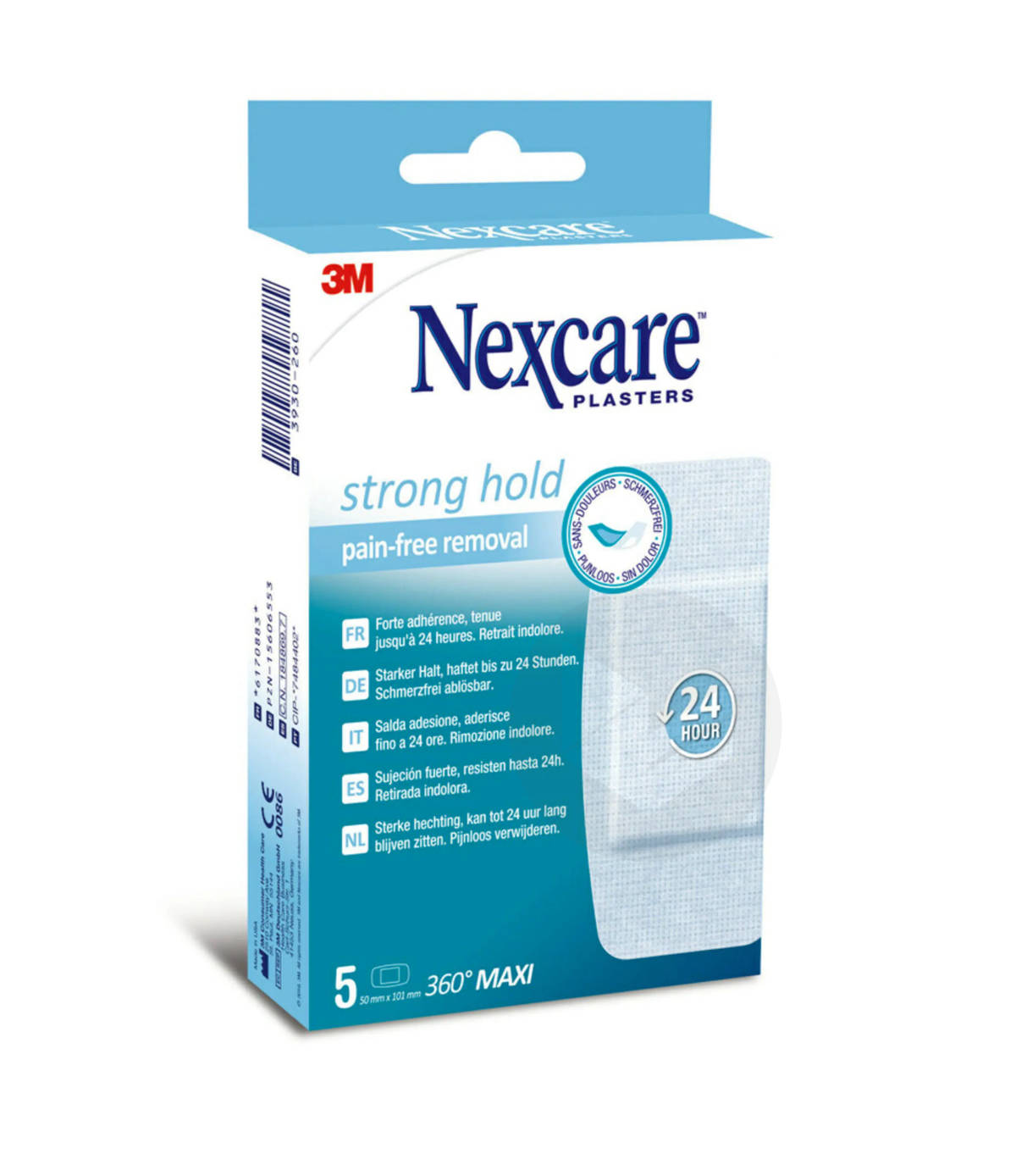 Pansements 360 Nexcare Strong Hold Format Maxi X 5