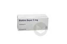 BIOTINE BAYER 5 mg Comprimé (Plaquette de 60)