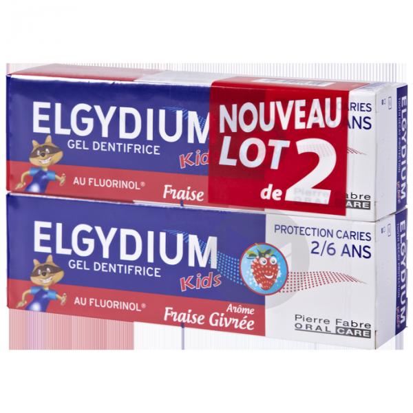 ELGYDIUM KIDS PROTECTION CARIES Gel dentifrice fraise givrée 2-6ans 2T/50ml