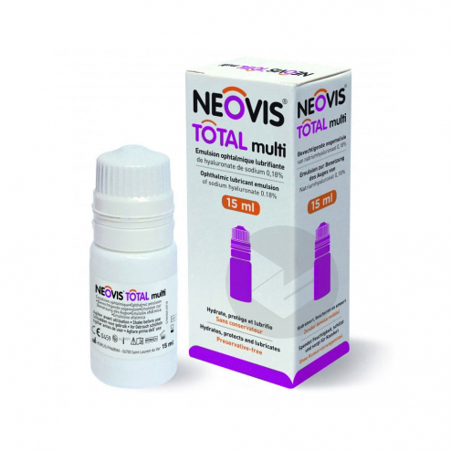 Neovis Total Multi Sol Lubrifiante Pour Instillation Oculaire 15 Ml