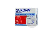 DAFALGAN 150 mg Poudre effervescente pour solution buvable (Boîte de 12)