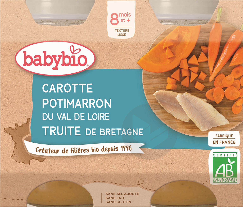 BABYBIO Pot Carotte Potimarron Truite