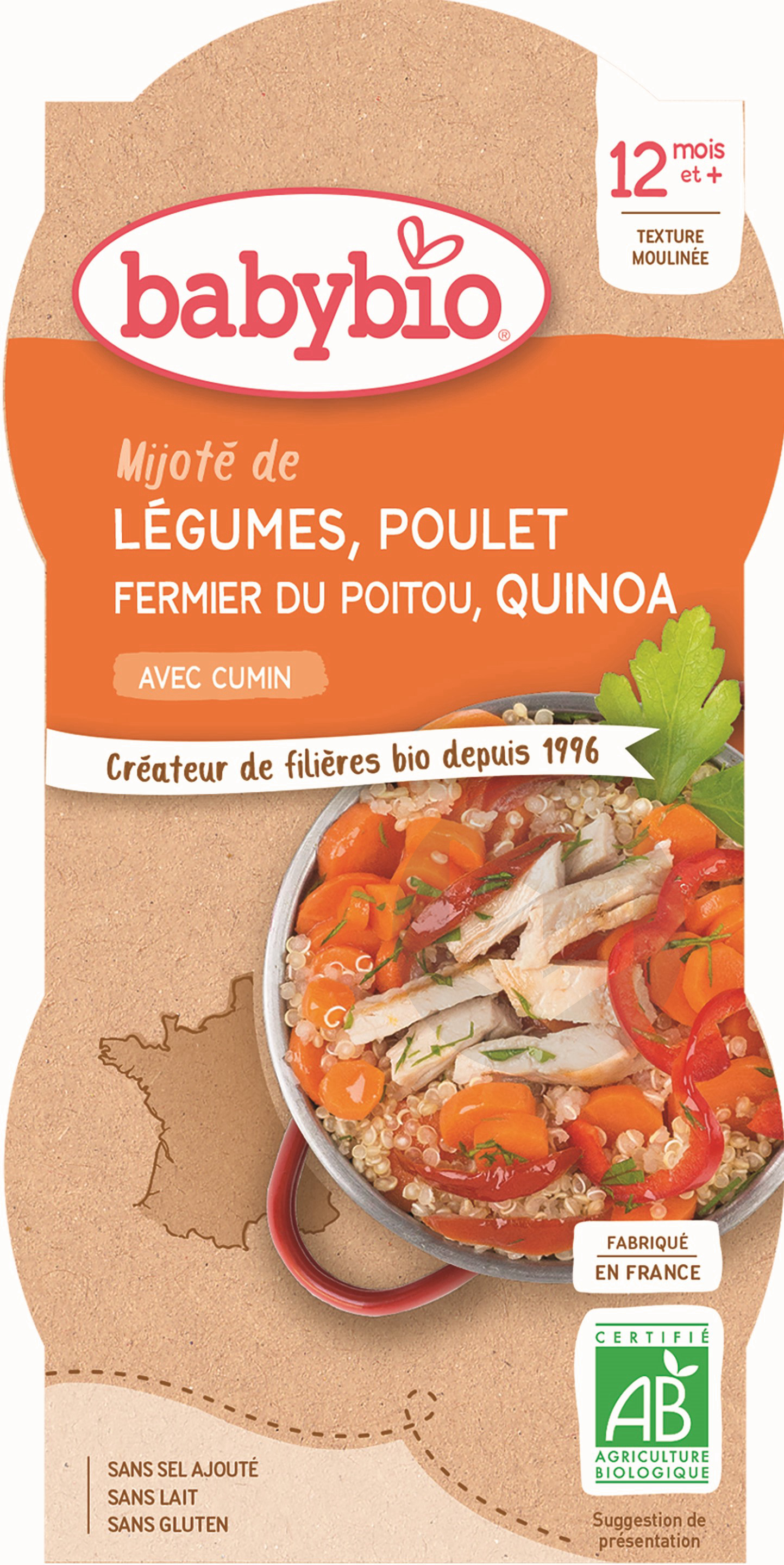 BABYBIO Bol Légumes Poulet Quinoa