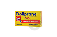 DOLIPRANE 1000 mg Suppositoire adulte (2 plaquettes de 4)