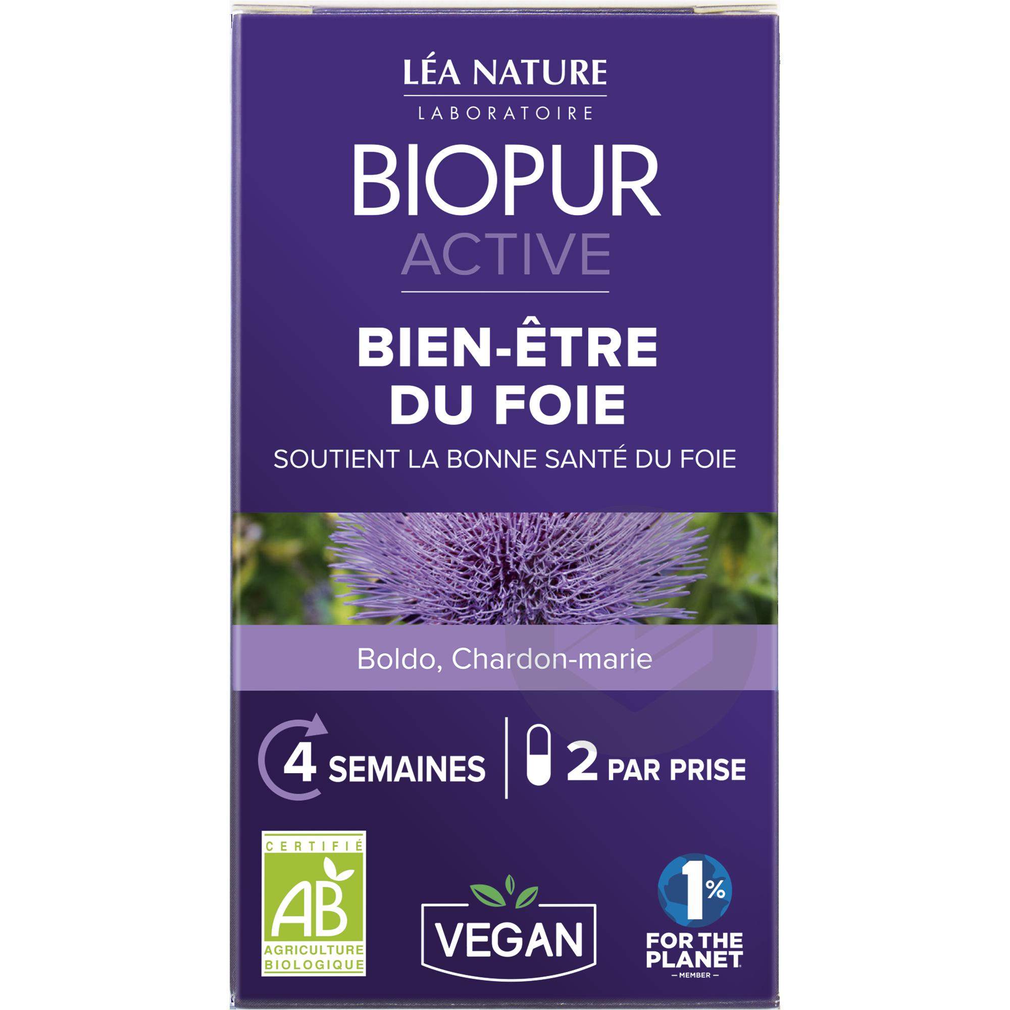 Active gélule végétale Bien-être du foie       Boldo Chardon-marie