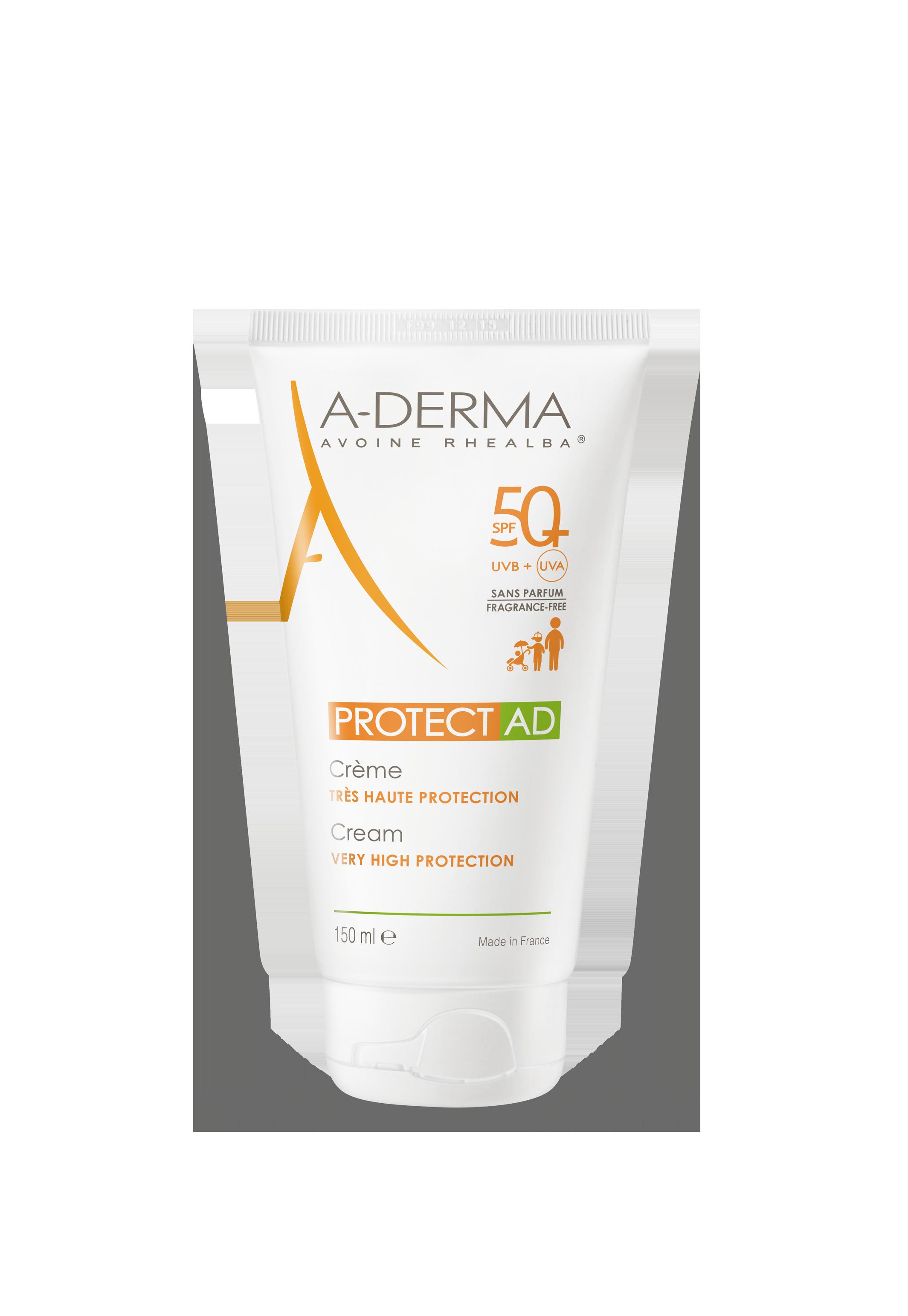 A Derma Protect Ad Creme Spf 50 Peaux Fragiles Au Soleil Visage Et Corps 150 Ml