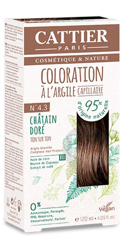 Coloration Capillaire A Largile N 4 3 Chatain Dore