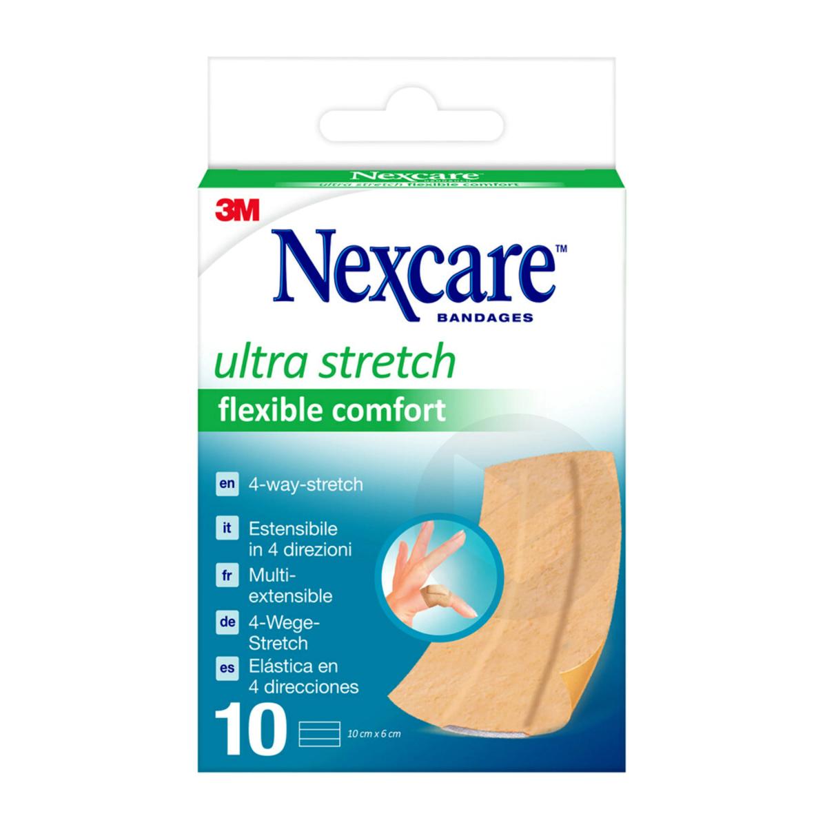 Nexcare Bandes Extensibles Flexible Comfort Ultra 6 Cm X 10 Cm X 10