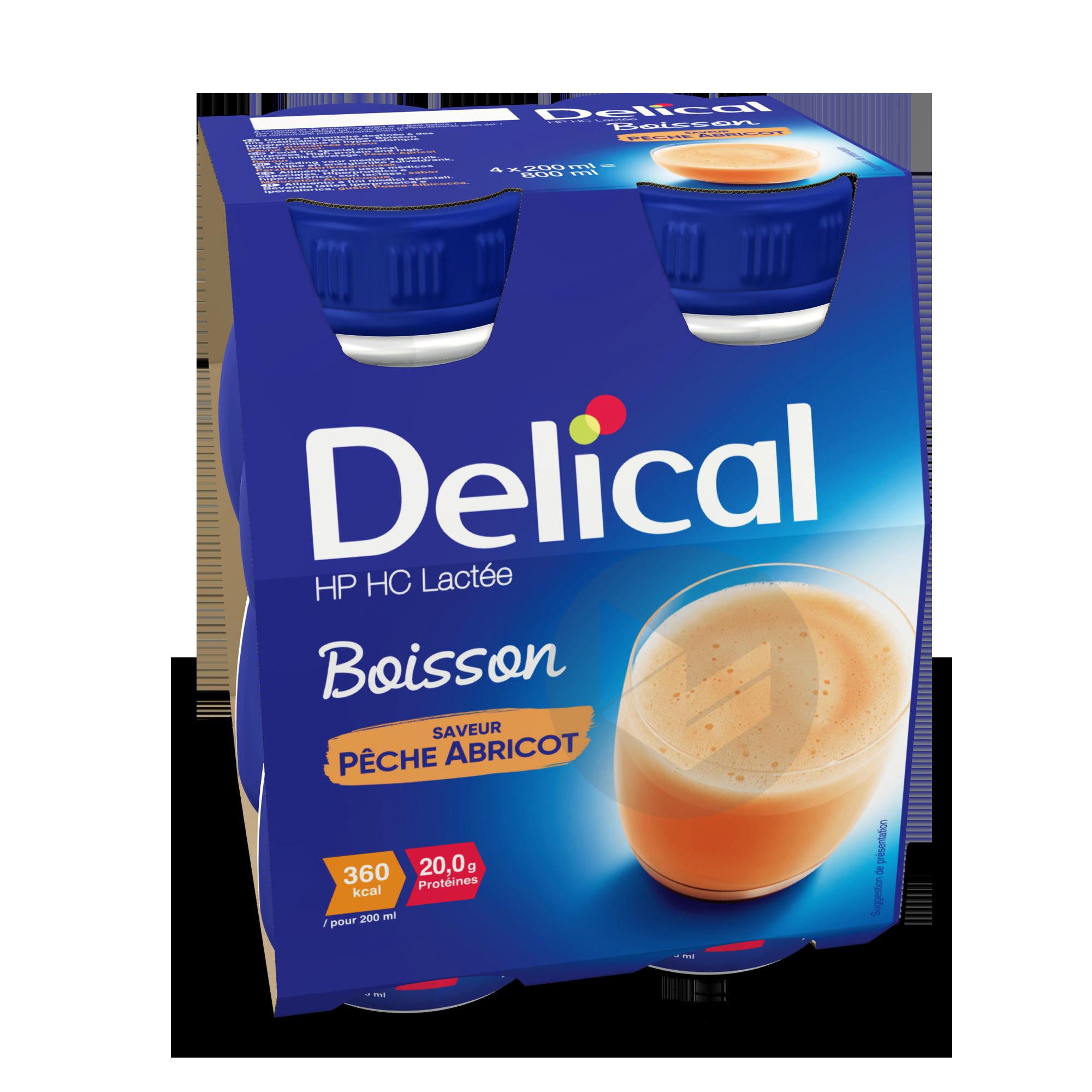 Delical Boisson Hp Hc Lactee Peche Abricot
