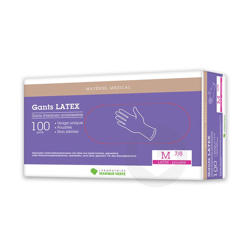 Gant Latex Poudre Ambidextre Medium X 100