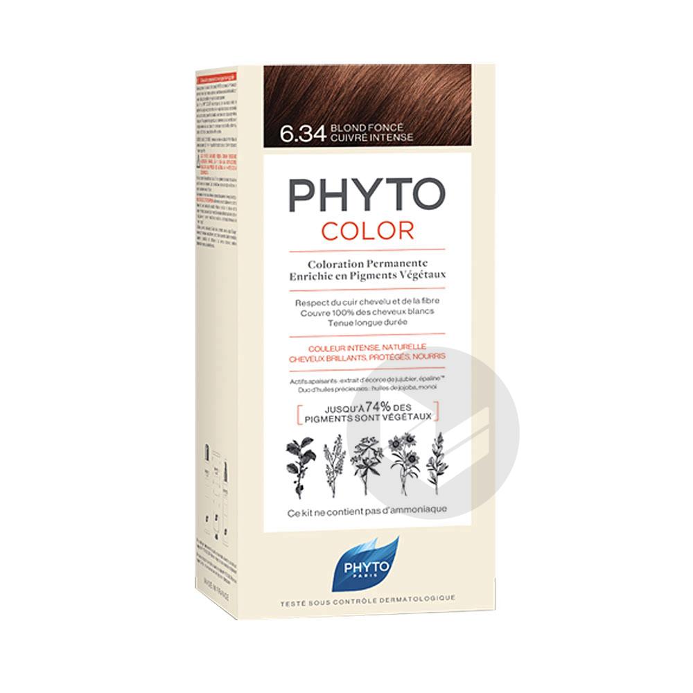 Phytocolor 6.34 Blond foncé cuivré intense