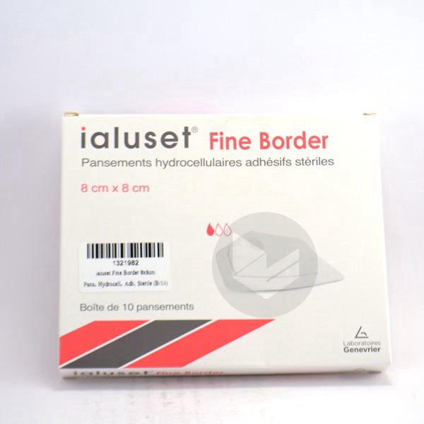 IALUSET FINE BORDER Pans hydrocellulaire adhésif 10x12cm B/10