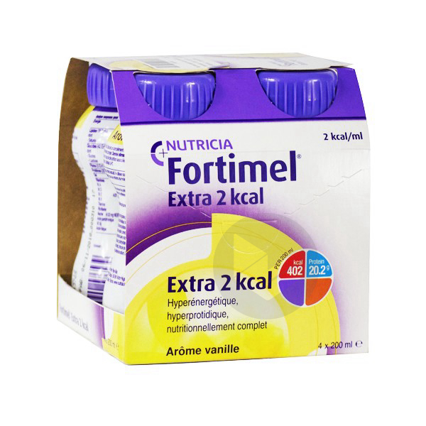 Fortimel Extra 2 Kcal Vanille 4 X 200 Ml