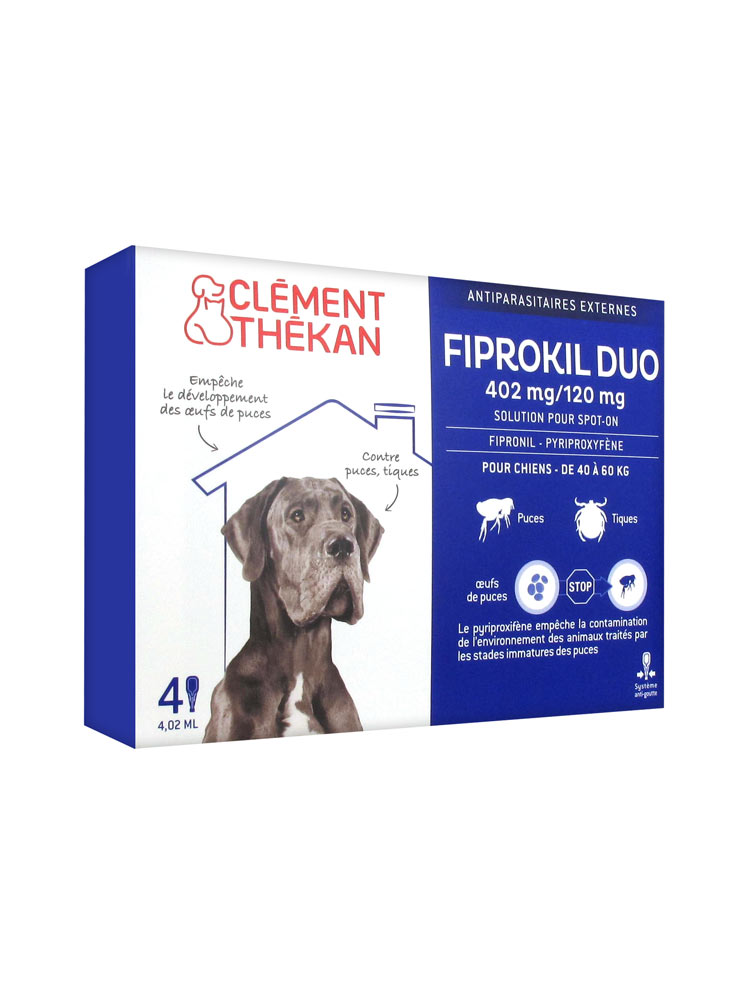 FIPROKIL DUO Solution pour spot-on chien 40-60kg 4Pipette/4,02ml