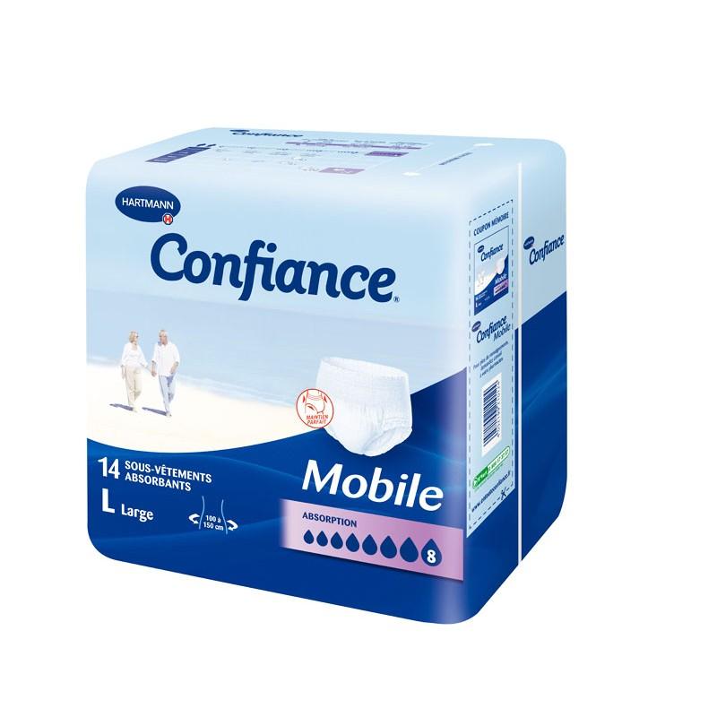 CONFIANCE MOBILE Slip absorbant jetable nuit TL Sach/14
