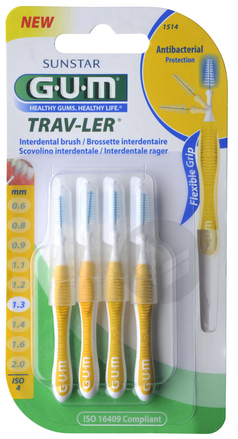 Brossette Interdentaire Trav Ler 1 3 Mm X 4