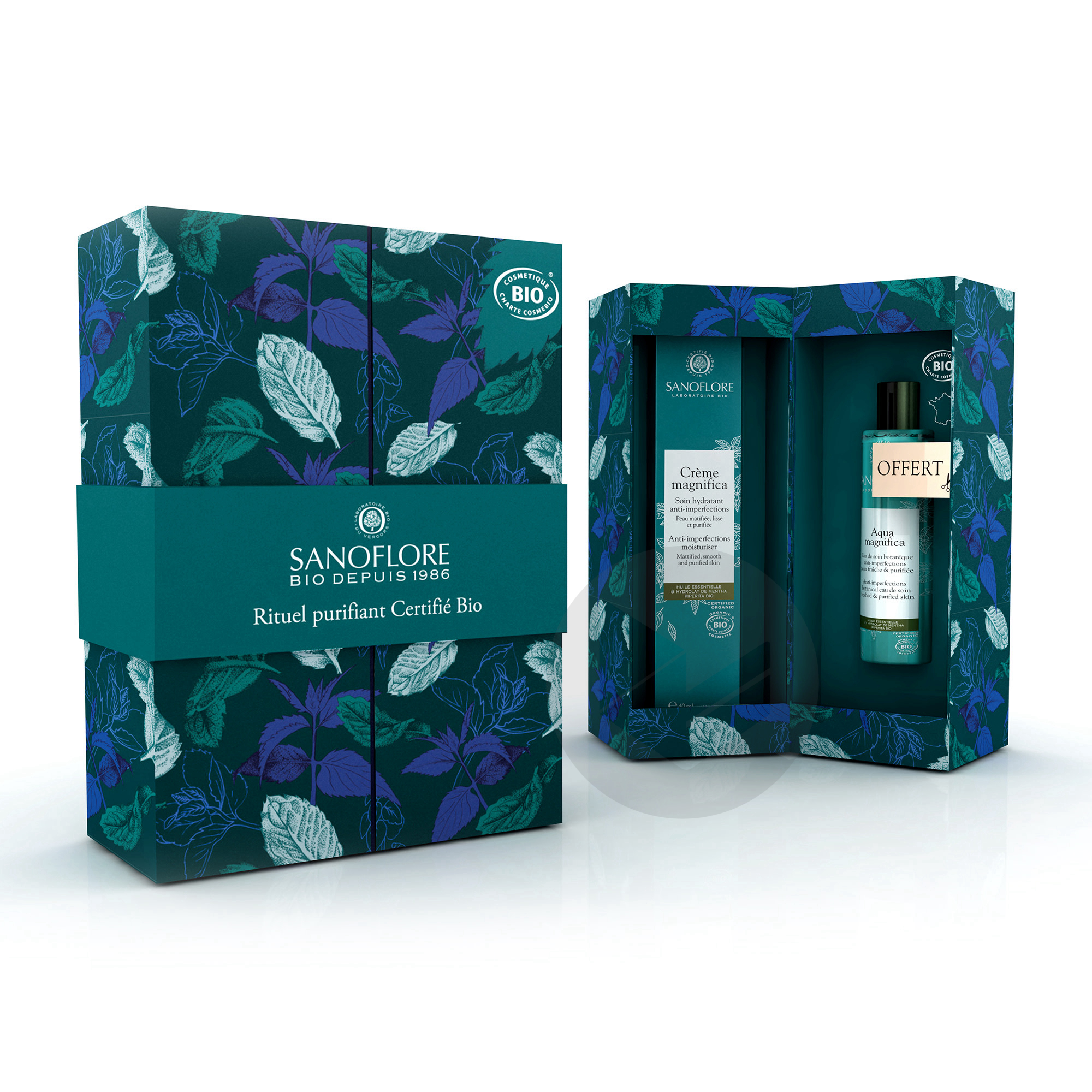 Coffret Cadeau Creme Magnifica Anti Imperfections 40 Ml Mini Aqua Magnifica 50 Ml Offerte