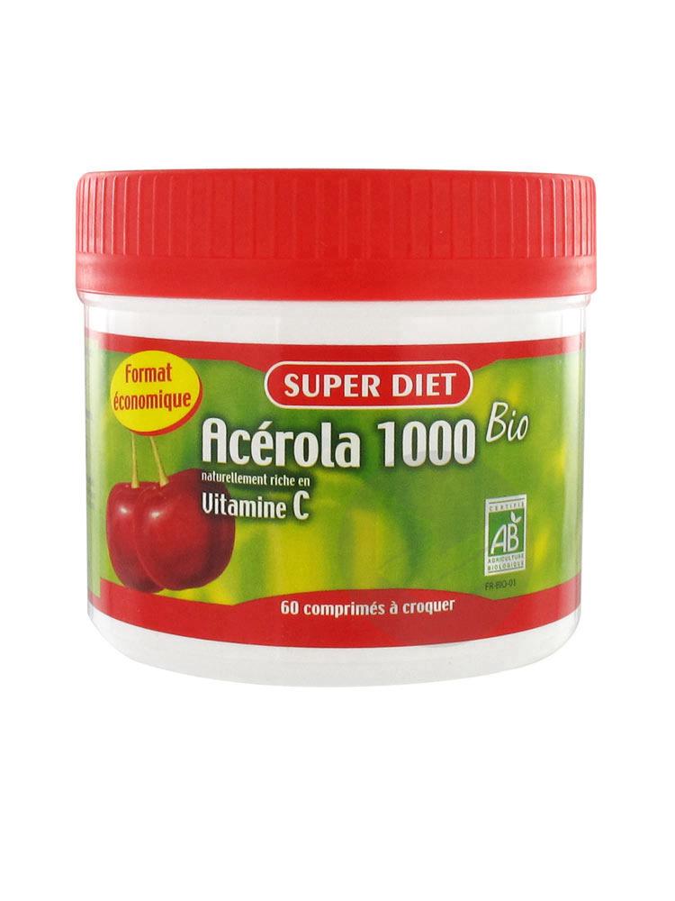SUPERDIET Acérola 1000 Cpr à croquer Pot/60