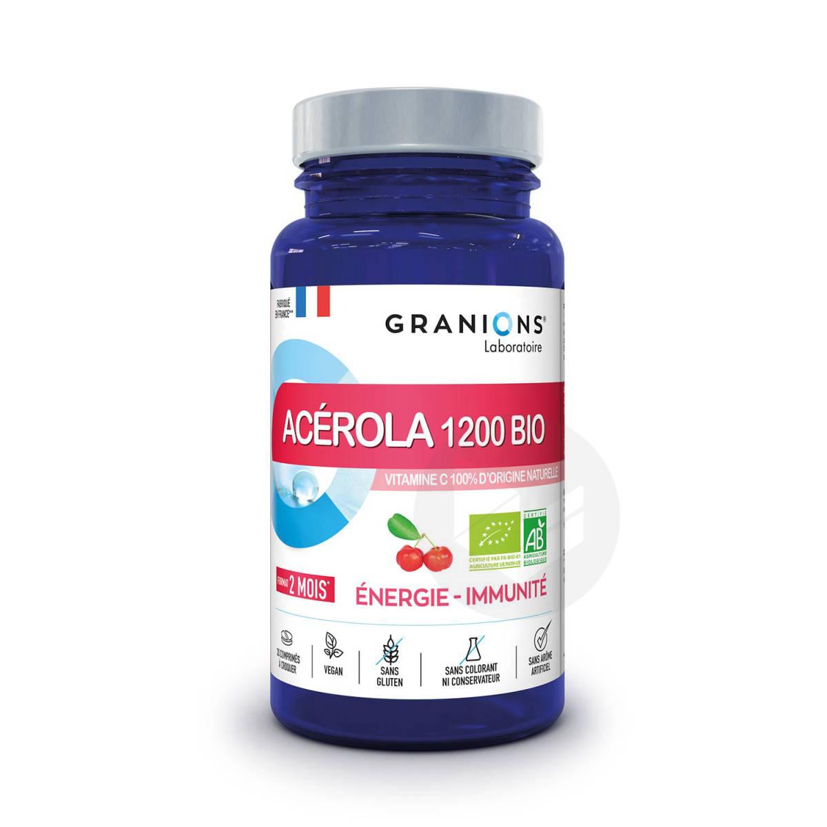 Acerola 1200 Bio Energie Immunite 30 Comprimes A Croquer