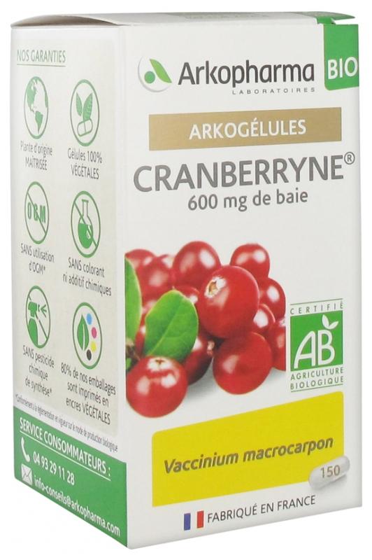 Arkogelules Cranberryne Bio 150 Gelules