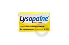 Lysopaine Cetylpyridinium Lysozyme Comprime A Sucer Maux De Gorge Sans Sucre Edulcore Au Sorbitol Et A La Saccharine 2 Tubes De 18