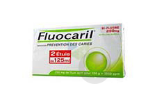 Bi Fluore 250 Mg Pate Dentifrice Menthe 2 Tubes De 125 Ml