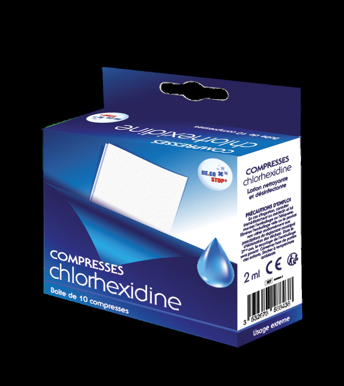 Compresses Chlorhexidine x10