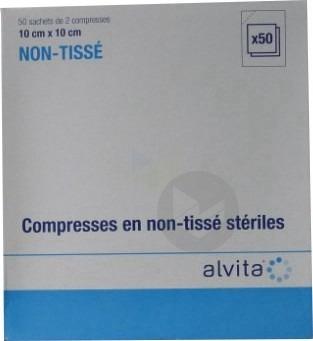 Compr Sterile Non Tissee 10 X 10 Cm 50 Sach 2