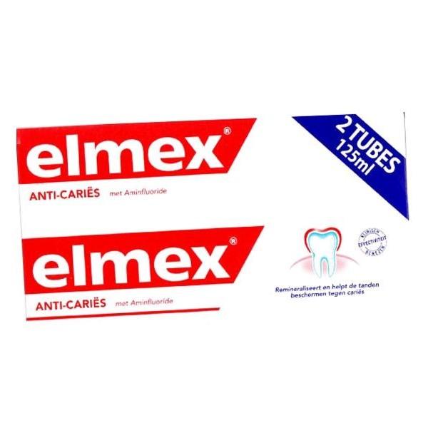 ELMEX ANTI-CARIES Pâte dentifrice 2T/125ml