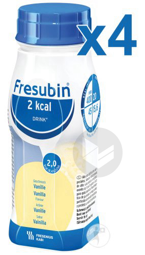 Fresubin 2 Kcal Drink Vanille 4 X 200 Ml