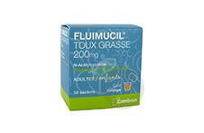 FLUIMUCIL ACETYLCYSTEINE 200 mg Granulés pour solution buvable en sachet sans sucre expectorant  (Sachet de 30)