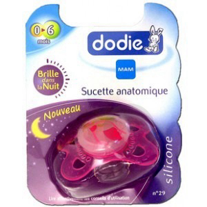 DODIE Sucette orthodontique silicone 1er âge nuit