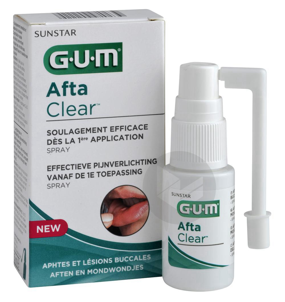 Spray Buccal Aftaclear 15 Ml Gout Pomme Poire