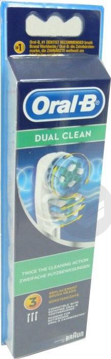 B Dual Clean Brossette Blister 3