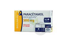 PARACETAMOL BIOGARAN 500 mg Comprimé (Plaquette de 16)