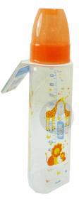 DODIE MON BIBERON Biberon plastique tétine 3 vitesses silicone 2ème âge orange safari 330ml