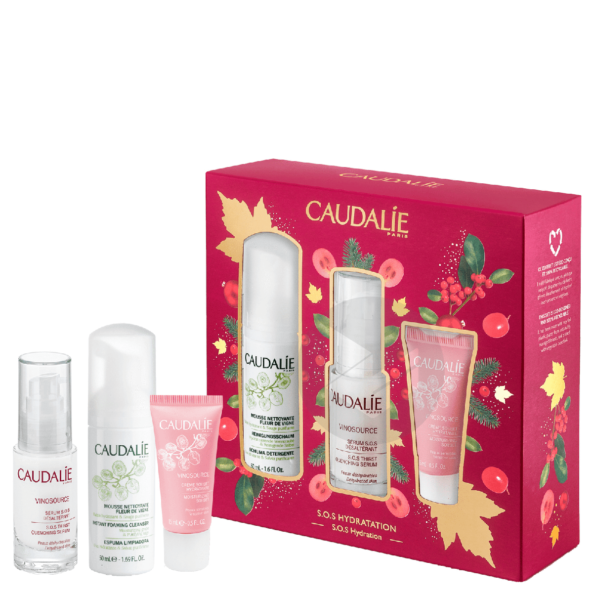 CAUDALIE Coffret Vinosource Sérum S.O.S